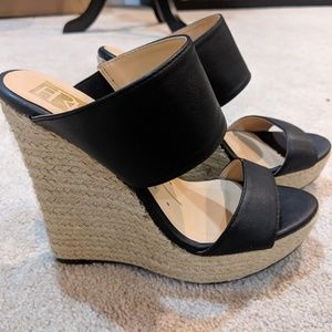 FRH Black Wedges size 5 1/2
